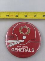 Vintage New Jersey Generals USFL pin button pinback *EE78