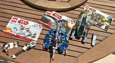 3 Lego Star Wars Sets 7748, 8084, 8086 100% Complete w Instructions No Mini Figs