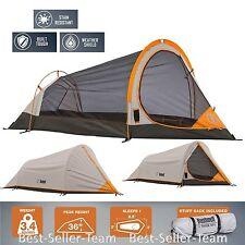 4-Season Waterproof Shield Backpacking Tent Camping 1 Person Large Mesh Walls