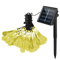 30 LED Outdoor Solar Powered String Light Garden Path Yard Decor Lamp Waterproof