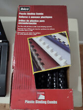 Ibico 58 Plastic Binding Combs Box Of Approximately 100 Pieces Black