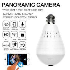 Cámara Espía 1080P HD SMART WIFI 360 ° Ojo de Pez Panorámica Oculta Lámpara Bombilla Luz