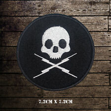 Skull Logo Embroidered Iron On Sew On Patch Badge For Clothes Etc