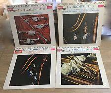 Lot 4 LP Musique pour instruments anciens Trompette Roger Voisin voL 1-2-3-5 *