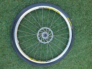 "Cannondale Front LEFTY MAVIC Cross Land WHEELSET  26"" MTB W/ Tyres, Rotor, 26"""