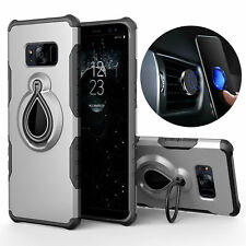 Handy Hülle Panzer Case Magnet Halter Finger Ring Samsung Apple iPhone Clip