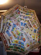 Vintage Newspaper Harold Umbrella Cartoon Comic Strip Print Wood Handle