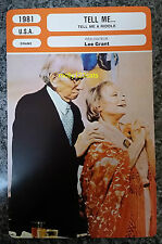 US Lee Grant Drama Movie Tell Me A Riddle Melvyn Douglas French Film Trade Card