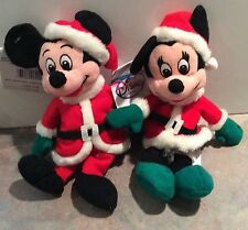 Disney Mickey & Minnie Mouse as Santa & Mrs. Claus Beanie Babies