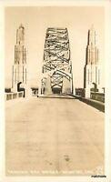 1930s Yaquina Bay Bridge Newport Oregon RPPC real photo Lincoln 8463