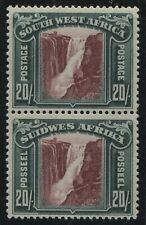 Southwest Africa 1931 20/ vertical pair mint o.g. top stamp hinged