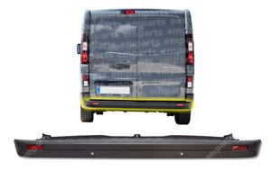 Vauxhall Vivaro Rear Center Bumper With PDC Sensor Holes 2014 Onwards