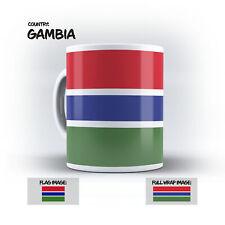 Gambia Flag Mug - 10Oz Coffee Mug Full Wraparound Print GM