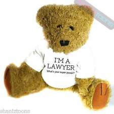 Lawyer Novelty Gift Teddy Bear