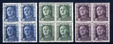 Sellos de España 1946-1947 nº 999/1001 General Franco Bloque de cuatro