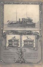 2421) LIVORNO 1910 CONSEGNA BANDIERA AL CACCIATORPEDINIERE FUCILIERE .