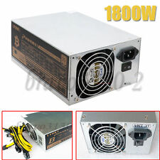 1800W Mining Machine Power Supply For Eth Bitcoin Miner Antminer S7 S9 90 Gold