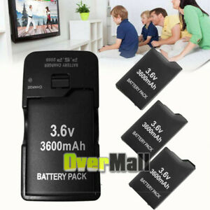 3600mAh Rechargeable Battery for Game PSP Slim 2000/2001/3000/3001/3003 +Charger
