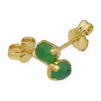 Castellano Jewels Pendientes Mujer Esmeraldas Oro de Ley 18K