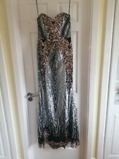 QUIZ SIZE 10 FULL LENGTH EVENING SEQUINED DRESS