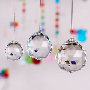 Crystal Lamp Ball Prism Rainbow Sun Catcher Home Wedding Ceiling Decor Clear.