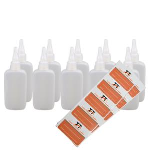 Ovale Liquid-Flaschen 10 x 100ml - Flachmann, Kunststoffflaschen aus weichem PE