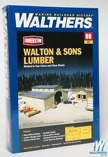 3057 Walthers Cornerstone Walton & Sons Lumber Yard Company --Kit HO scale