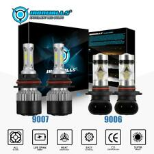 2Pairs 9007+9006 LED Headlight Fog Bulbs for Dodge Ram 1500 2500 3500 2002-2005