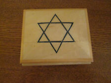 "Sorrento Music Box Sunrise, Sunset Star of David, Reuge Swiss 4"" Made in Italy"