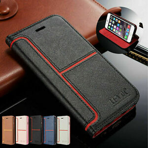 Leather Case For iPhone 11 12 Pro Xr 6s 7 8 Xs Max SE Magnetic Flip Wallet Cover