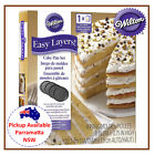WILTON 8 INCH EASY 4 LAYER CAKE ROUND BIRTHDAY BAKING DECORATING TIN PAN SET