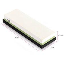 Pietra Cote 600/1500 Dual Lato per Affilatura Coltelli + Supporto Silicone