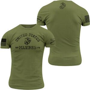 Grunt Style USMC - Est. 1775 T-Shirt - Military Green