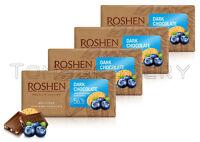 4 x ROSHEN Premium Dark Chocolate Bar with Blueberries & Cookies 90g 3.5oz