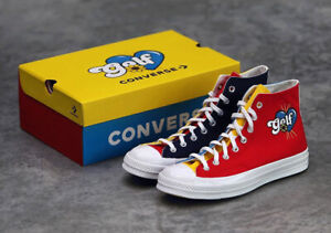✅Converse Chuck Taylor 70 Hi Golf Wang TriColor BLUE YELLOW RED 169910C Size 8.5