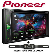 """Pioneer AVH200EX 6.2"""" Bluetooth DVD Receiver + License Plate Style Backup Camera"""