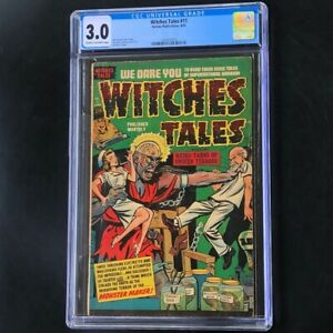 Witches Tales #11 (Harvey 1952) 💥 CGC 3.0 💥 Pre-Code Horror! PCH Golden Age