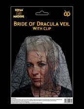 Halloween Bride of Dracula Veil CHEAP HALLOWEEN Fancy Dress Accessory Prop