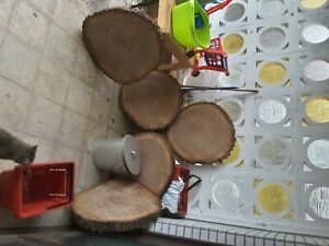 Baumscheibe EicheTrocken 45×5 - 6 cm Holzscheibe Couchtisch Tischplatte
