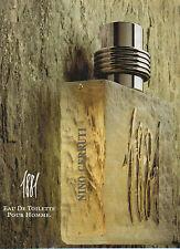Publicité Advertising  //   1881  eau de toilette  NINO  CERRUTI