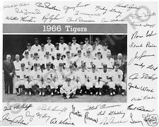 1966 DETROIT TIGERS MLB BASEBALL TEAM 8X10 PHOTO LOLICH KALINE HORTON STANLEY