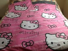 Hello Kitty Single Duvet And Pillow Case Reversible Bedding Set Fabric