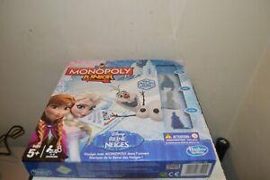 Spiel Monopoly Ausgabe Königin Der Schnee Disney Junior Hasbro Figur Komplett