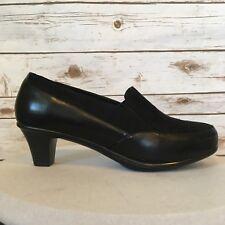 Catherines Good Soles Classic Pumps Womens 12W Black Slip Ons 2 Inch Heel NEW