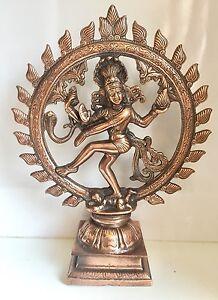 XL  Heavy 17'' x 13'' Bronze Natraj Dancing Shiva Indian God
