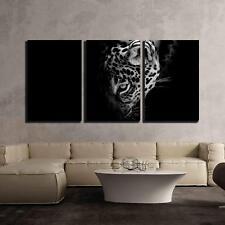 "Wall26 - Jaguar Portrait - Canvas Art Wall Decor - 24""x36""x3 Panels"