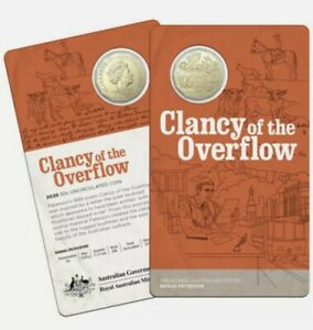 2020 Australia Banjo Paterson 50c Coin - Clancy Of The Overflow