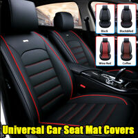 PU Leather Universal Full Car Seat Covers Mat Pad Breathable Cushion Pad Set c