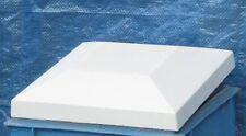 Pfeilerabdeckung Weiß Mauerabdeckung Abdeckplatte Beton mit Facette
