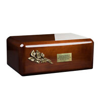 Stunning and Very Special Wooden Mango Adult Cremation Funeral urn for Ashes Diamond Mango Urn MU1